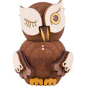 Small Figures & Ornaments Kuhnert Mini Owls Mini Owl Stained - 7 cm / 2.8 inch