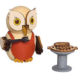 Small Figures & Ornaments Kuhnert Mini Owls Mini Owl with BBQ - 7 cm / 2.8 inch