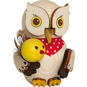 Gift Ideas Easter Mini Owl with Chick - 7 cm / 2.8 inch