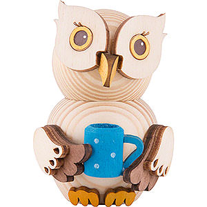 Small Figures & Ornaments Kuhnert Mini Owls Mini Owl with Cup - 7 cm / 2.8 inch
