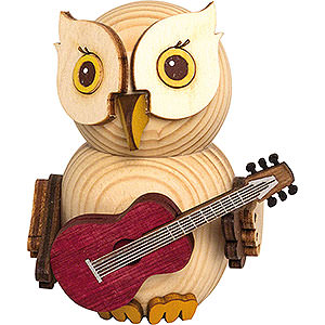 Small Figures & Ornaments Kuhnert Mini Owls Mini Owl with Guitar - 7 cm / 2.8 inch