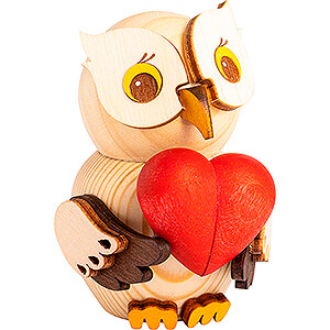 Gift Ideas Mother's Day Mini Owl with Heart - 7 cm / 2.8 inch