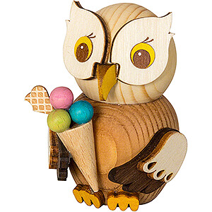 Small Figures & Ornaments Kuhnert Mini Owls Mini Owl with Ice Cream - 7 cm / 2.8 inch