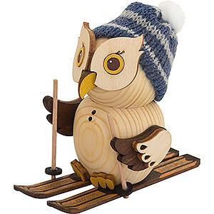 Small Figures & Ornaments Kuhnert Mini Owls Mini Owl with Ski - 7 cm / 2.8 inch