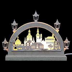 Schwibbögen Laubsägearbeiten Mini-Schwibbogen Dresden - 23x15x4,5 cm