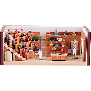 Small Figures & Ornaments Miniature Rooms Miniature Room - Lecture Hall - 4 cm / 1.6 inch