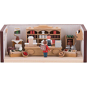 Small Figures & Ornaments Miniature Rooms Miniature Room - Small Corner Shop - 4 cm / 1.6 inch