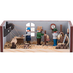 Small Figures & Ornaments Miniature Rooms Miniature Room - Turner's Workshop - 4 cm / 1.6 inch