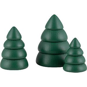 Kleine Figuren & Miniaturen Björn Köhler Weihnachtsm. mini Miniaturen-Set Bäume, grün - 4 cm