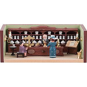 Kleine Figuren & Miniaturen Miniaturstübchen Miniaturstübchen Apotheke mit Apotheker - 4 cm