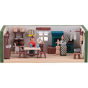 Kleine Figuren & Miniaturen Miniaturstübchen Miniaturstübchen Bauernstube - 4 cm
