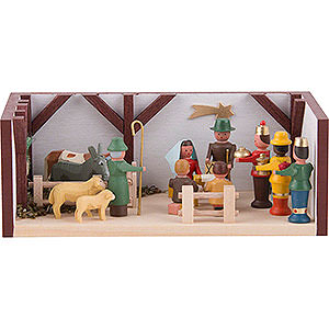 Kleine Figuren & Miniaturen Miniaturstübchen Miniaturstübchen Krippenstube - 4 cm