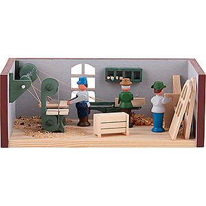 Kleine Figuren & Miniaturen Miniaturstübchen Miniaturstübchen Tischlerei - 4 cm
