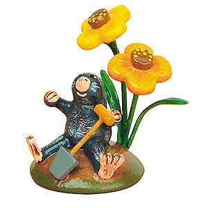 Small Figures & Ornaments Hubrig Flower Kids Mister Mole - Set of Four- 3 cm / 1 inch