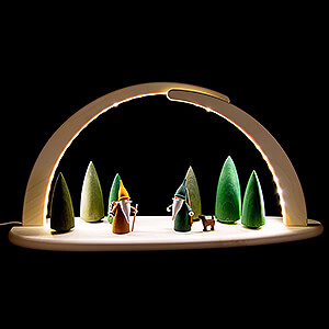 Candle Arches All Candle Arches Modern Light Arch - Forest Scene - 42x21 cm / 16.5x8.3 inch