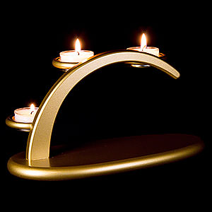 Candle Arches All Candle Arches Modern Light Arch - Golden - without Figurines - 25x13x10 cm / 9.8x5.1x3.9 inch