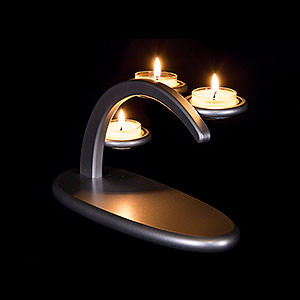 Candle Arches All Candle Arches Modern Light Arch - Silver - without Figurines - 25x13x10 cm / 9.8x5.1x3.9 inch