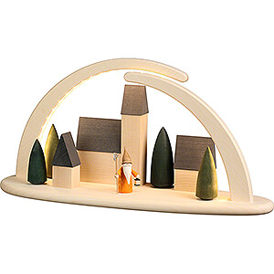 Candle Arches All Candle Arches Modern Light Arch - Town with Nightwatchman Gnome - 42x21 cm / 16.5x8.3 inch