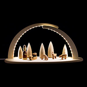 Candle Arches All Candle Arches Modern Light Arch with LED - Christmas - 42x21 cm / 16.5x8.3 inch