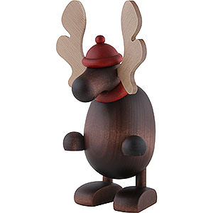 Small Figures & Ornaments Björn Köhler Mrs. Claus etc. Moose Olaf, Standing - 14,5 cm / 5.7 inch