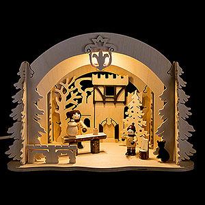 World of Light Lighted Houses Motive Light - Diorama Castle Christmas - 19 cm / 7.5 inch