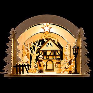 World of Light Lighted Houses Motive Light - Diorama Winter Delights - 19 cm / 7.5 inch
