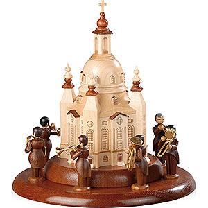 Spieldosen Alle Spieldosen Motivplattform für elektr. Spieldose - Blechbläserensemble an der Frauenkirche - 15 cm