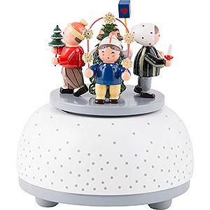 Music Boxes Seasons Music Box Children in Winter - 12 cm / 5 inch