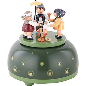 Music Boxes Misc. Motifs Music Box Childrens Play - 12 cm / 5 inch