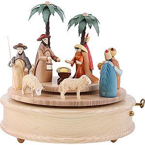 Music Boxes Christmas Music Box Crib Colourful - 23 cm / 9 inch