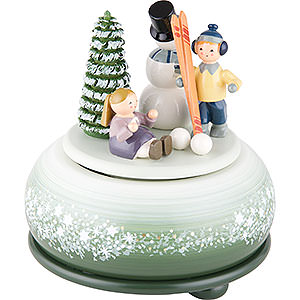 Music Boxes Seasons Music Box Fun Sking - 14 cm / 5 inch
