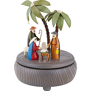 Music Boxes Christmas Music Box - Nativity - Grey - 18 cm / 7 inch