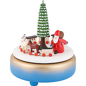 Music Boxes Christmas Music Box - Rupert's Train - Blue - 17 cm / 6.7 inch
