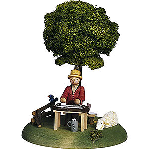 Small Figures & Ornaments Günter Reichel Born Country Musician Zither Player - 15 cm / 5.9 inch