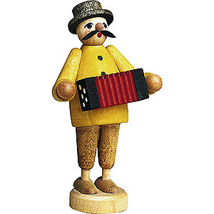 Small Figures & Ornaments Günter Reichel Born Country Musician with Accordion - 7 cm / 2.8 inch