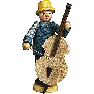 Small Figures & Ornaments Günter Reichel Born Country Musician with Bass Fiddle - 7 cm / 2.8 inch