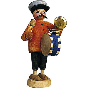 Small Figures & Ornaments Günter Reichel Born Country Musician with Drum - 7 cm / 2.8 inch