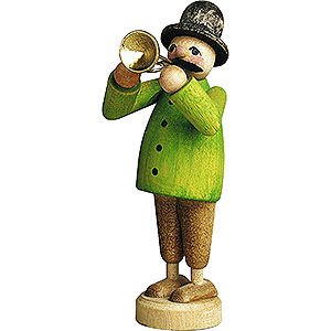 Small Figures & Ornaments Günter Reichel Born Country Musician with Trumpet - 7 cm / 2.8 inch