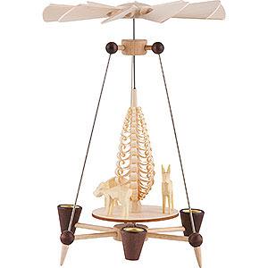 Weihnachtspyramiden 1-stöckige Pyramiden Nadelpyramide mit Rehen - 26 cm