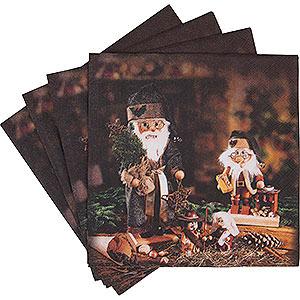 Small Figures & Ornaments Napkins Napkins Nutcracker Teeter Men - 20 pcs.