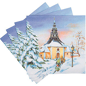 Small Figures & Ornaments Mugs & Napkins Napkins Sunset in Seiffen - 20 pcs.