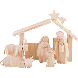 Small Figures & Ornaments Günter Reichel Nativity Nativity Set - 8 cm / 3.1 inch