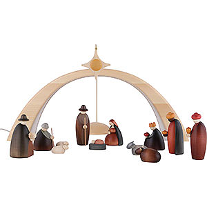 Small Figures & Ornaments Björn Köhler Nativity small Nativity Set of 14 Pieces Including Light Arch - and Star