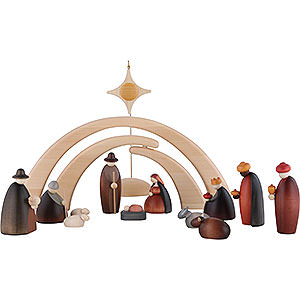 Small Figures & Ornaments Björn Köhler Nativity small Nativity Set of 14 Pieces Including Stable and Star
