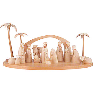Small Figures & Ornaments All Nativity Figurines Nativity Set of 15 Pieces - Natural