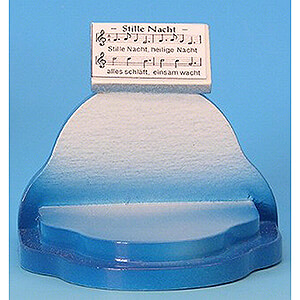 Weihnachtsengel Engel - blaue Flügel - klein Notenpult