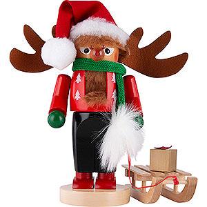 Nussknacker Bekannte Personen Nussknacker Chubby Rudolph mit Schlitten - 27 cm