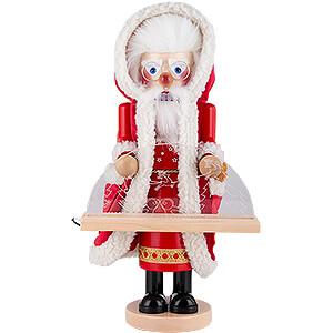 Nussknacker Weihnachtsmänner Nussknacker Deutscher Weihnachtsmann mit Schwibbogen - 44 cm