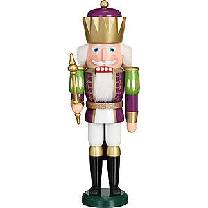 Nussknacker Könige Nussknacker Exklusiv König purpur-weiß - 40 cm