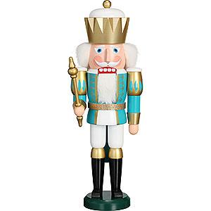 Nussknacker Könige Nussknacker Exklusiv König türkis-weiß - 40 cm